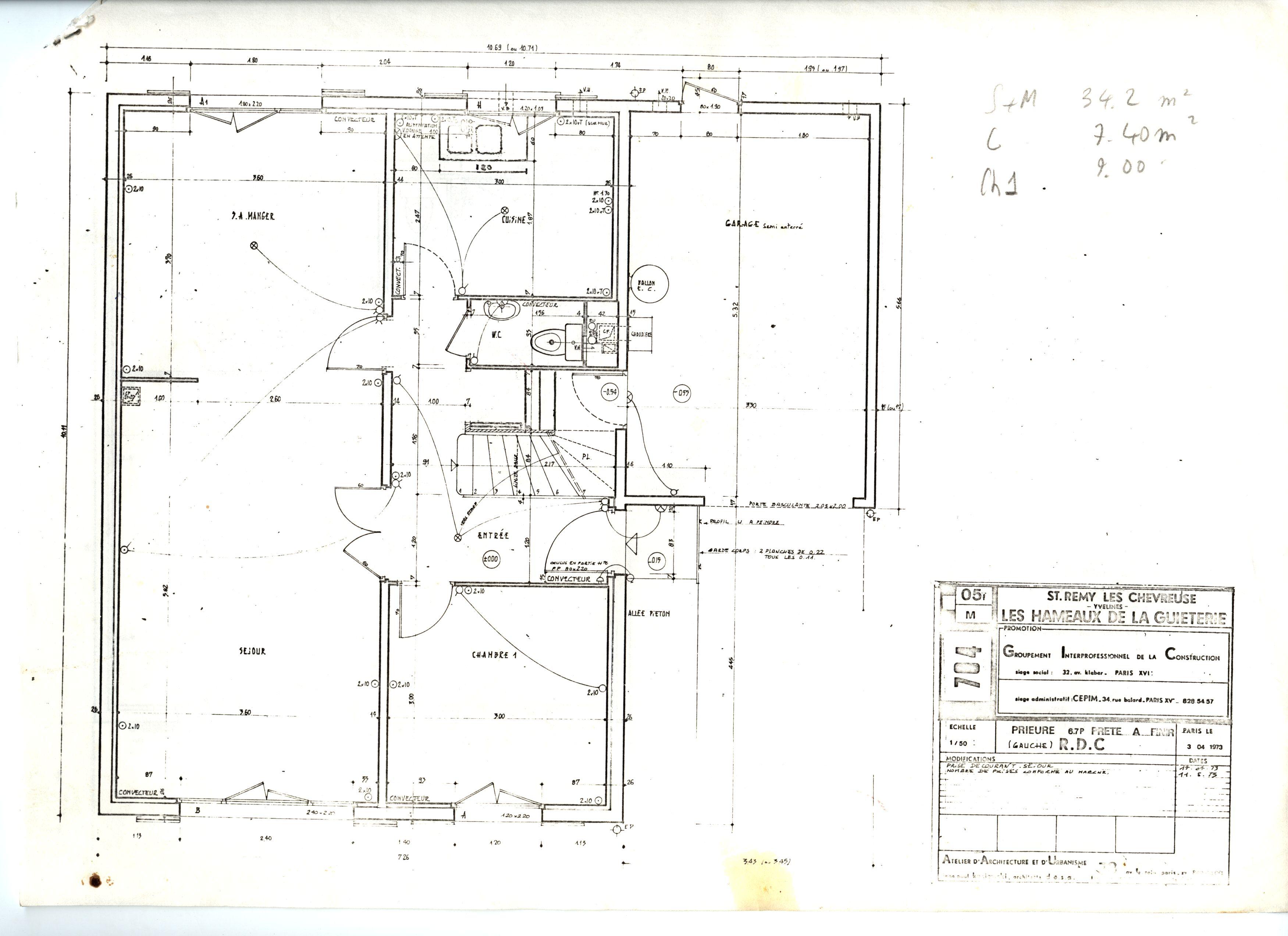 Plans d taill s r sidence de la guieterie saint r my l s for Modifier plan maison