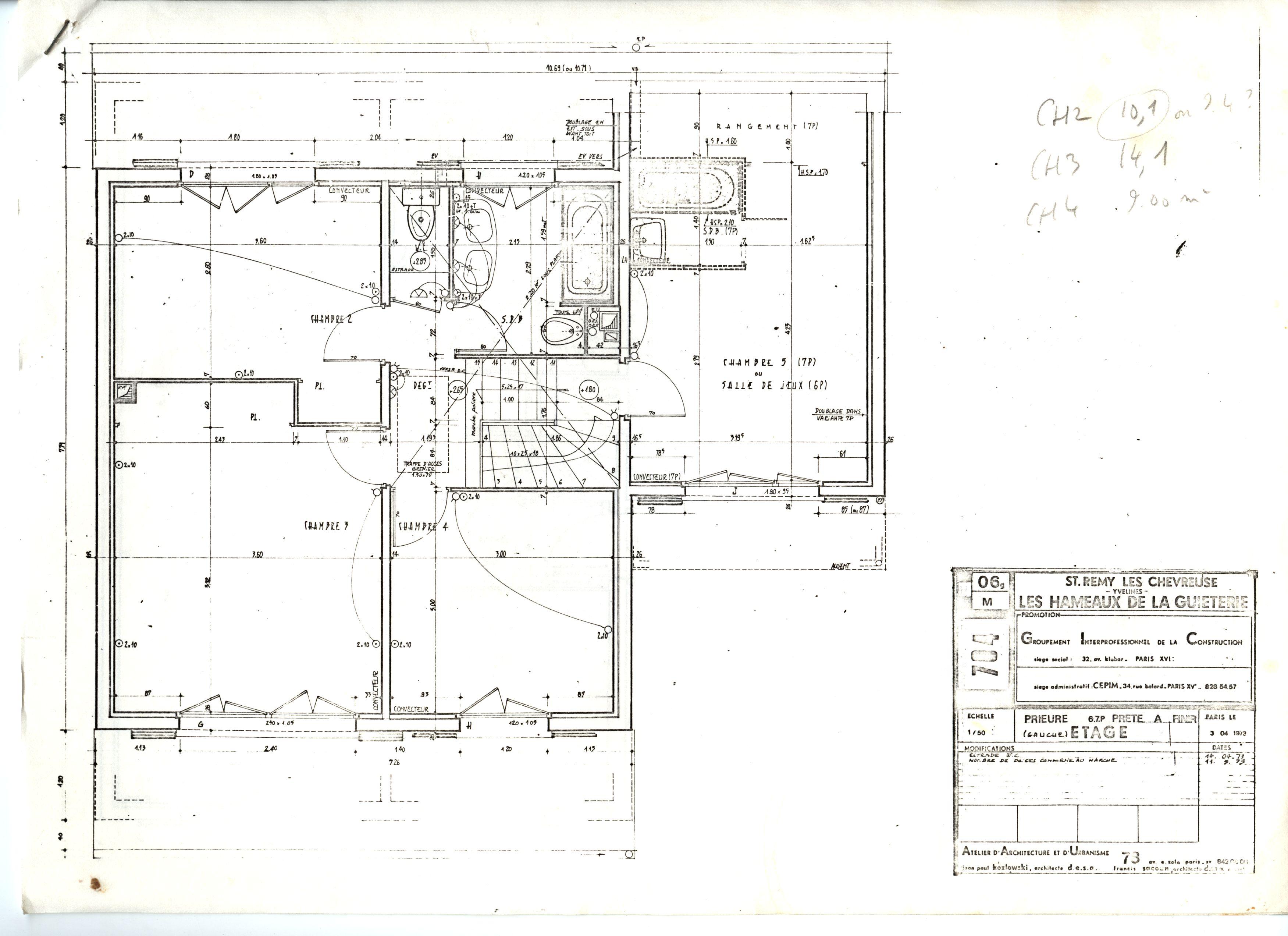 Maison chevreuse rdc et etage r sidence de la for Modifier plan maison